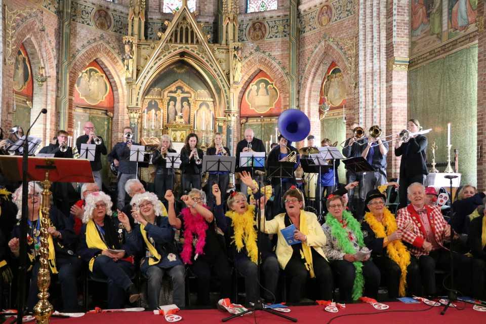 Carnaval 2019 in de Sint Martinuskerk te Sneek
